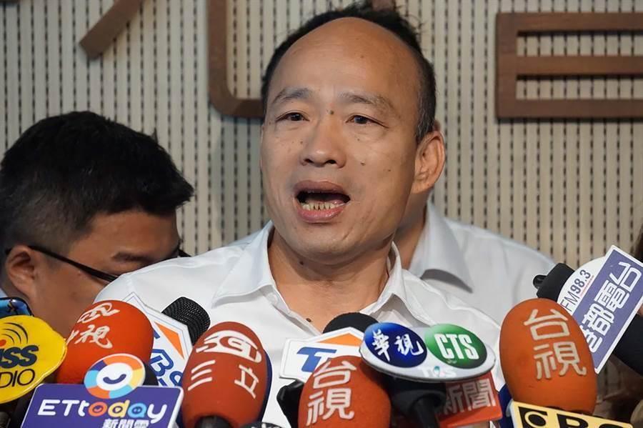高雄市長韓國瑜受訪。(圖/本報資料照,柯宗緯攝)