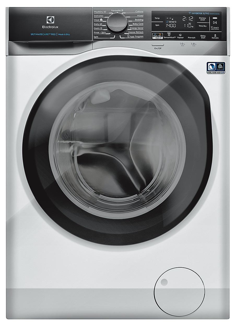 伊萊克斯全新Wi-Fi智能洗脫烘衣機,定價5萬8999元,12月31日前享預購價5萬6049元。(伊萊克斯提供)