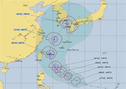 準颱米塔最新預測路徑曝光 對台影響恐大增