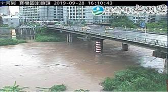 景美溪暴漲 沿岸警戒、低窪區預作撤離準備