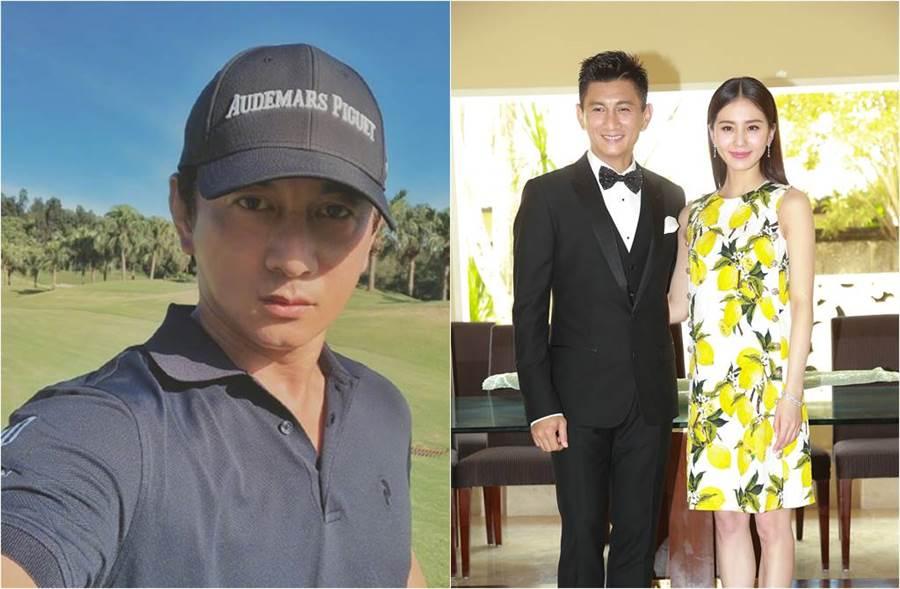 吳奇隆、劉詩詩在今年4月喜迎兒子「步步」,幸福組成一家三口。(圖/達志影像(右圖)、取材自吳奇隆微博)