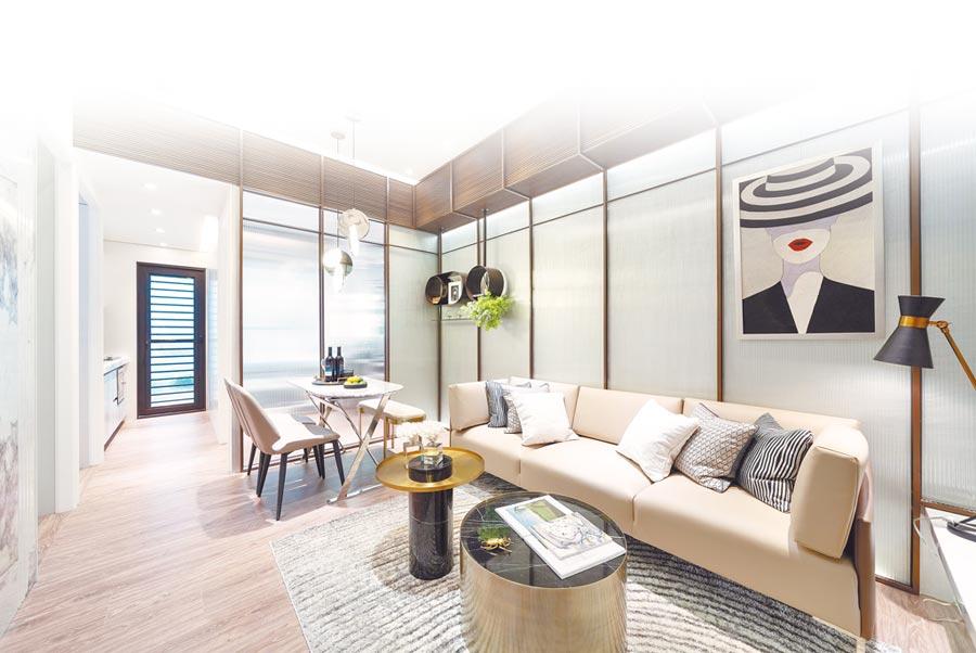 「漢皇盛世」訴求首購、首換買得起的二代宅,規畫1-4房、16-42坪。(甲山林提供)