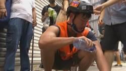前往香港採訪!中視記者遭辣椒水噴灑