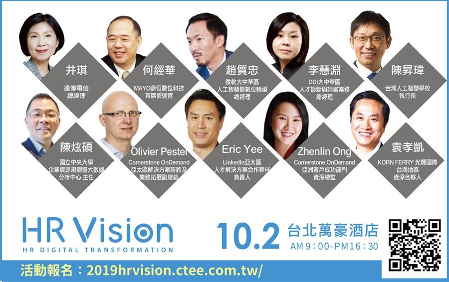 HR Vision企業人資論壇 10/2登場圖/業者提供