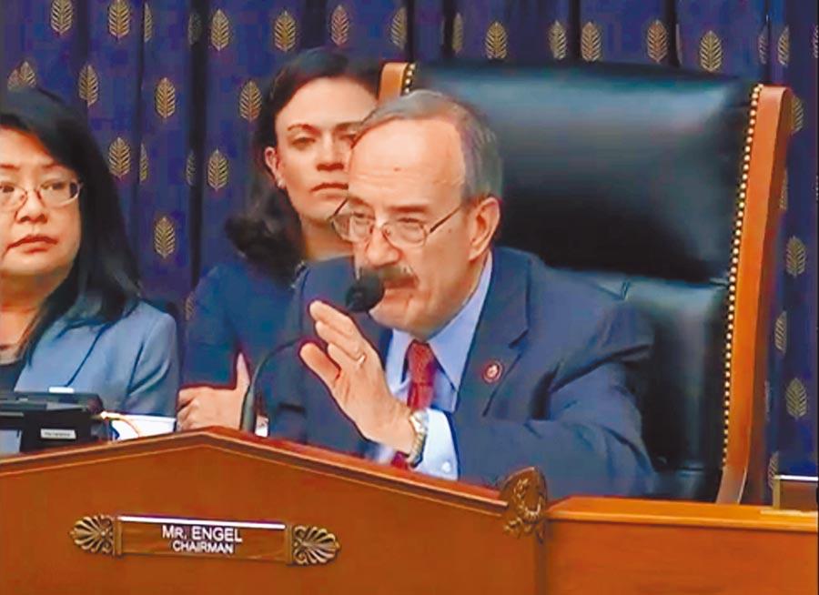 美國參議院外交委員會主席安格爾26日宣布通過《台北法案》。(取自眾議院外委會推特)