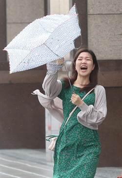 米塔颱風進逼  北市街頭出現間歇性風雨