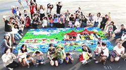 3萬瓶蓋挑戰湖心亭 台中環保藝術節亮點