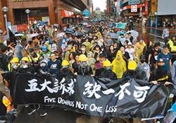 撐香港 台北逾萬人冒雨遊行