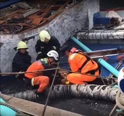 快訊》振奮! 搜救人員救出1漁工