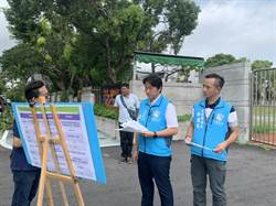 花蓮市第一條防滑行穿道 市長:比柏油路還防滑