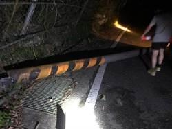 南庄蓬萊村大坪聯絡道路樹及電信桿倒塌 阻斷交通
