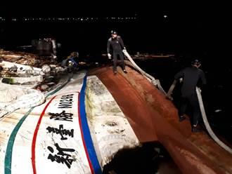 怒海潛將明晨拆橋欄電杆 打通漁船航道