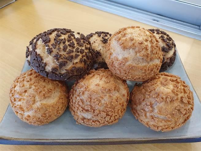 新北市中和區「京點洋菓子」創業至今逾16年,販售的泡芙獲得不少消費者喜愛。(葉書宏攝)
