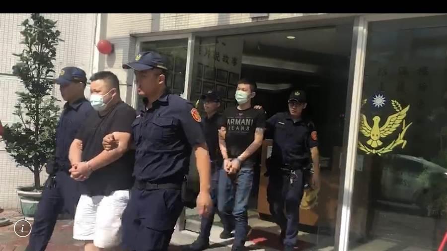 警方立即出動42名快打警力,將鬧事的6人壓制帶回偵訊。(翻攝照片/戴上容新北傳真)