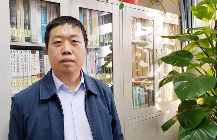 北京聯合大學台灣研究院副院長李振廣。(藍孝威攝)