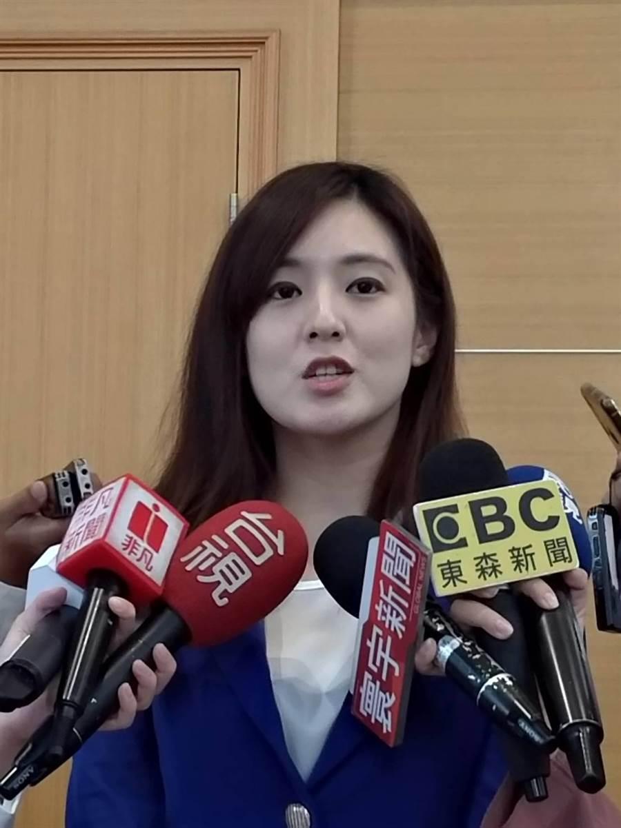 韓國瑜選辦發言人何庭歡。(黃福其/攝)