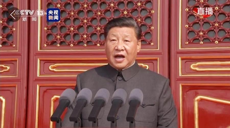 回應習近平  民進黨:台灣人無法接受。(央視截圖)