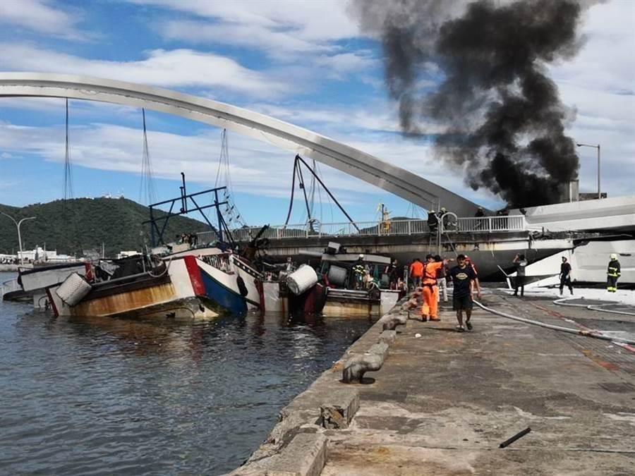 蘇澳唯一一座跨海大橋今(1)日無預警坍塌。(資料照)