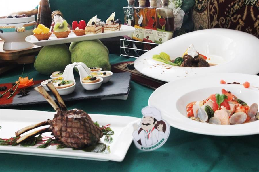 劍湖山度假大飯店內的蔚藍西餐廳推出國慶豐富美食。(劍湖山世界提供/許素惠雲林傳真)