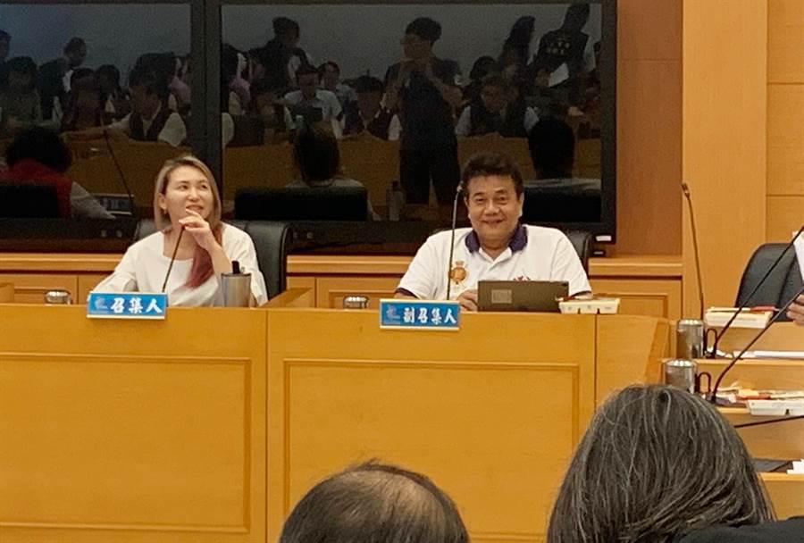台中市議會教育文化委員會1日進行審查提案,教育文化委員會最後決議,不予同意。(陳世宗攝)