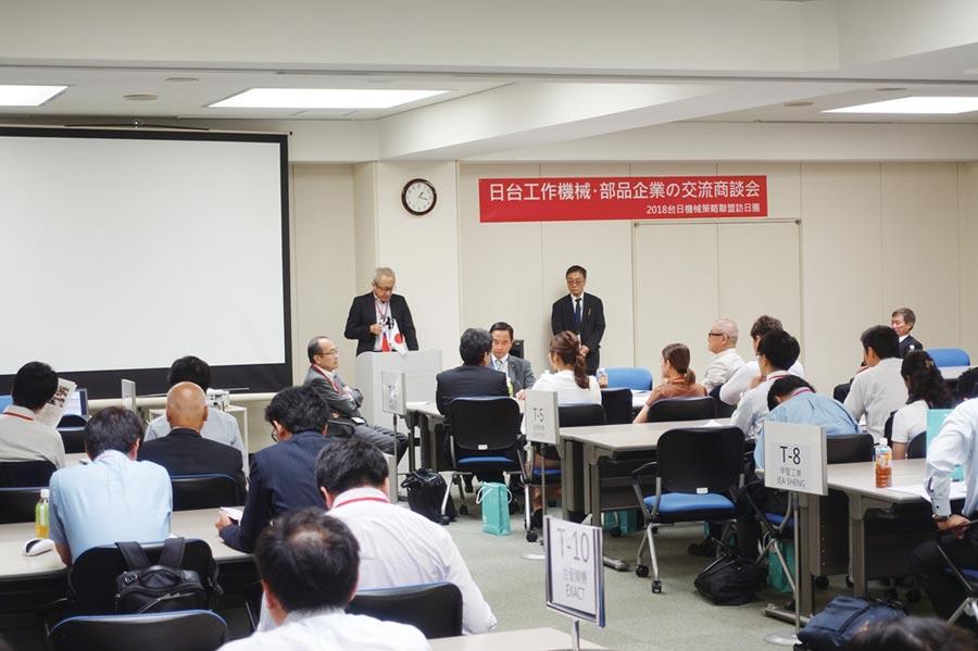 台日機械企業經貿商談會往年舉辦盛況。圖/臺灣機械公會提供