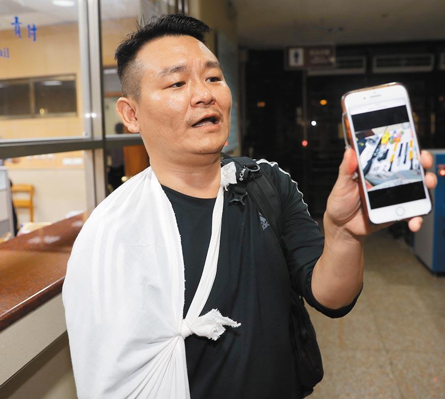 胡志偉昨晚以20萬元交保,他表示願意向何韻詩鄭重道歉,但否認這是組織犯罪,強調是被栽贓的。(季志翔攝)