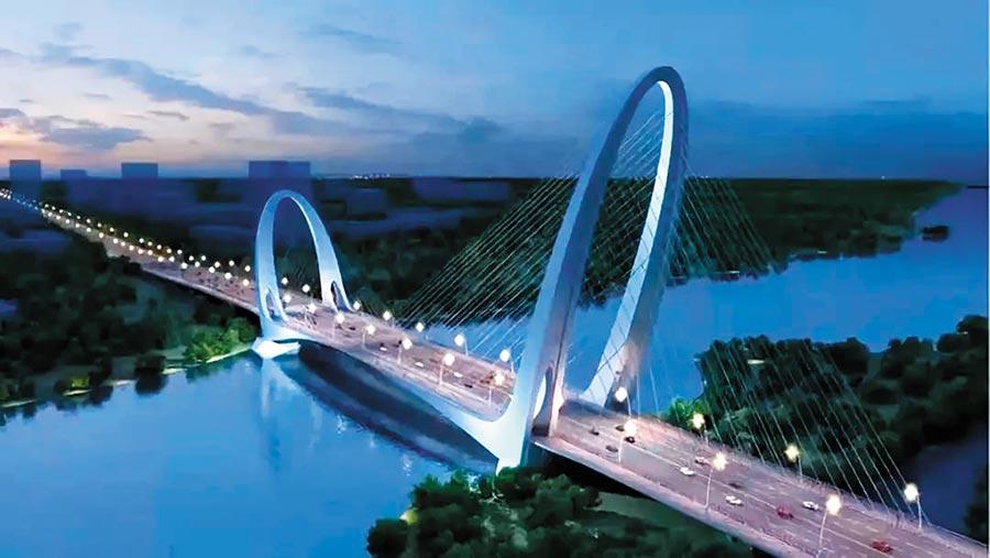 新首鋼大橋是北京最大跨徑橋梁。(取自人民網)