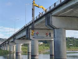 中市定期檢修護橋梁 15座鋼索橋梁今將完成檢測
