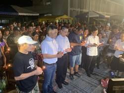 菲律賓教友到斷橋事故現場祈禱追思 盼失蹤同胞儘速尋獲