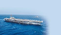 美航母過南海 陸艦群近距離隨身