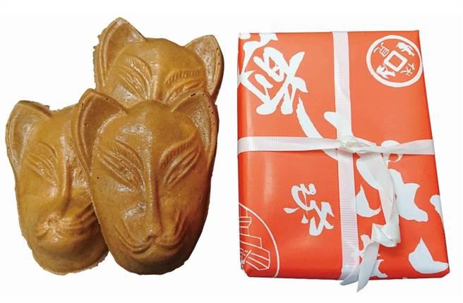 「いなりや」稻荷仙貝,狐狸形狀模樣可愛,3入185元。(SOGO提供)