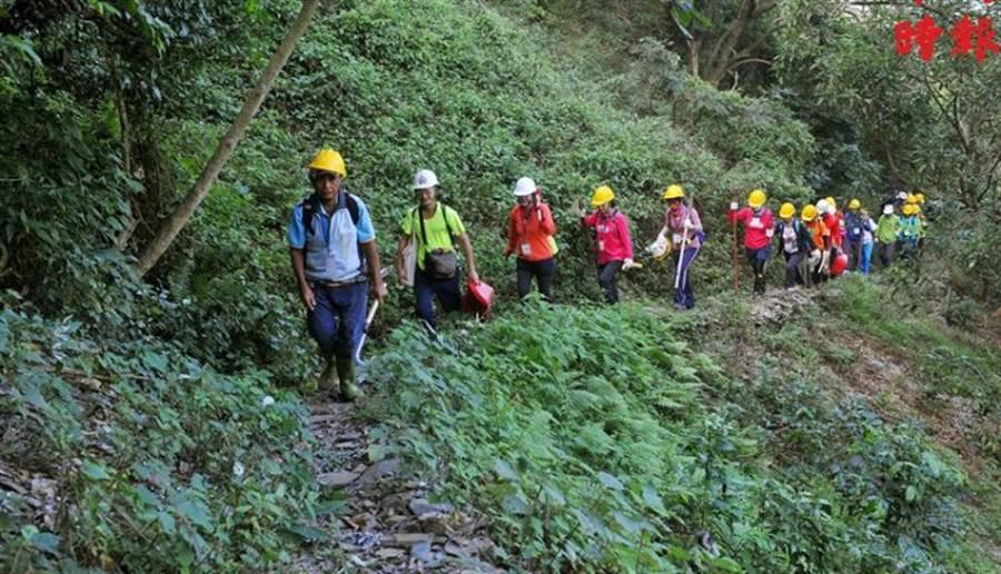 連著2年舉辦了5個梯次的大武獵人古道工作假期,吸引了100多位來自全台各地及香港的志工熱血投入。(劉宗龍攝)