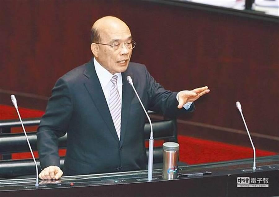 行政院長蘇貞昌。(資料照,張鎧乙攝)