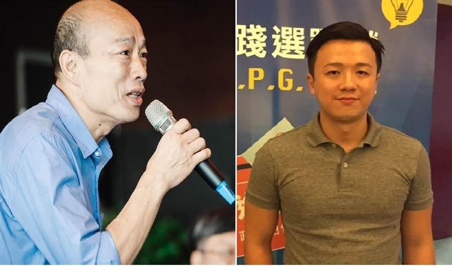 國民黨總統提名人、高雄市長韓國瑜(左)、國民黨草協聯盟發起人李正皓(右)。 (圖/合成圖,本報資料照片)