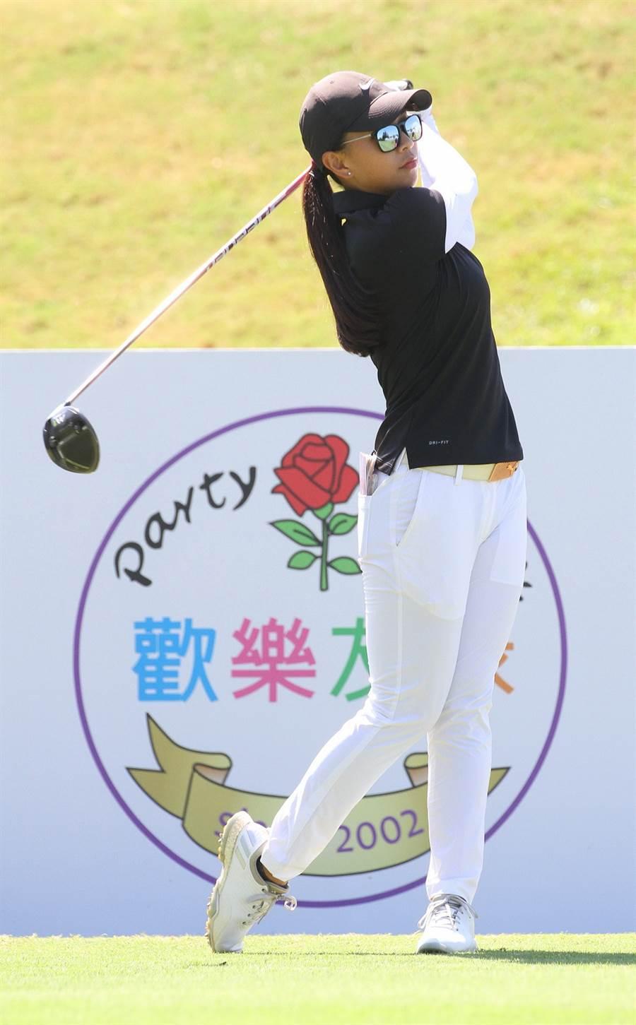 2019歡樂友緣女子公開賽第一回合台灣選手吳曉玲67桿暫居第一。(大會提供/陳筱琳傳真)