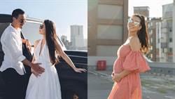 蔡詩芸平口洋裝曬6月肚 四肢纖瘦被封最美孕婦