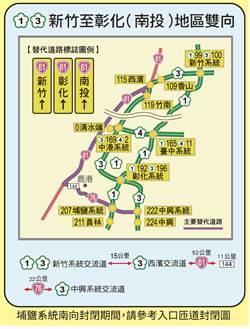國慶連假往返中部 替代道路在這裡!