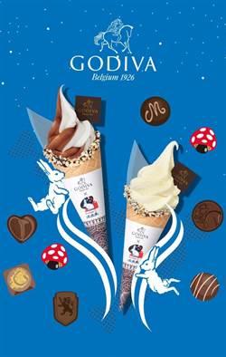 上海大白兔與巧克力大廠Godiva聯名推冰淇淋