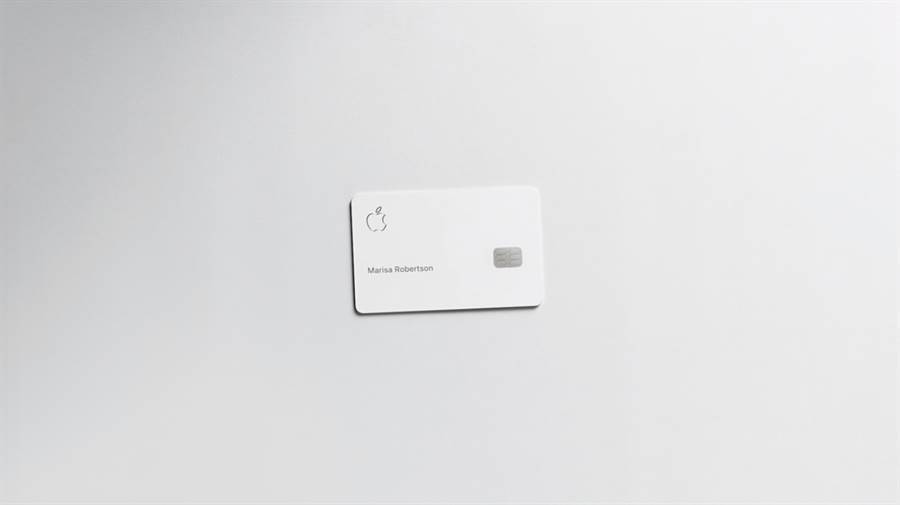 Apple Card 實體卡的樣貌。(摘自蘋果官網)