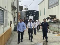 台中大雅農地工廠燒死2警消 檢重回火場勘驗