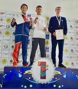 泳壇新星 永康國中王昱翔在亞洲分齡游泳錦標賽為台灣奪首金