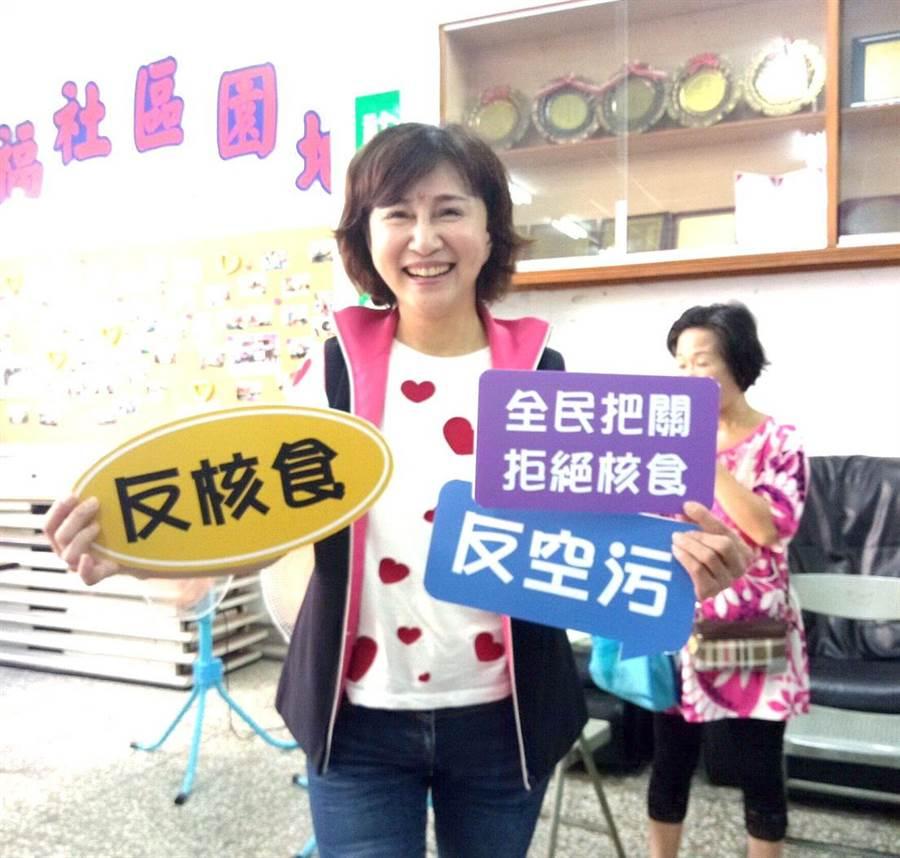 國民黨立委參選人黃馨慧理性問政形象,獲不少婦女票及選民支持。(盧金足攝)