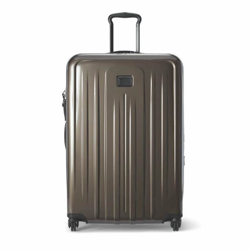 TUMI V4 24吋旅行箱(水貂色),2萬6300元。(TUMI提供)