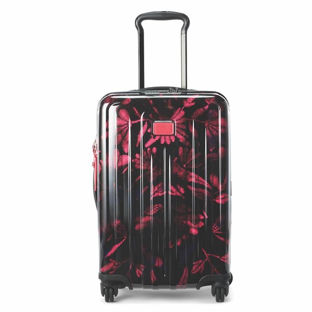 TUMI V4 20吋旅行箱(桃紅印花),2萬4300元。(TUMI提供)
