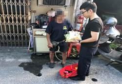 汐止員警送物資關懷獨居老人 民眾直呼太溫馨