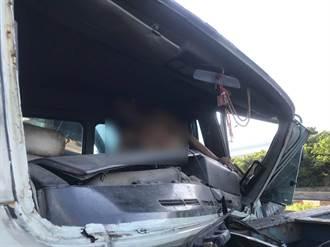 大貨車追撞意外 一人卡車內已脫困送醫