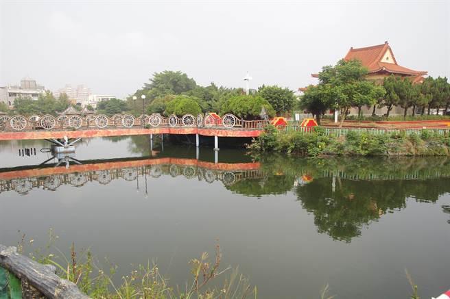 太保市水牛公園藝都表演樓將打造為觀光休閒驛站。(張毓翎攝)
