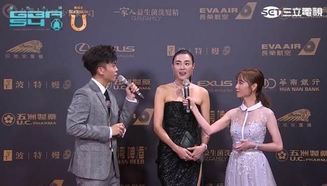 雙城故事》入圍「戲劇女主角獎」的曾珮瑜。(圖/翻攝自Youtube)