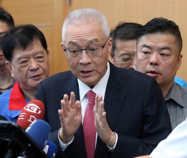 國民黨主席吳敦義。(資料照片,趙雙傑攝)