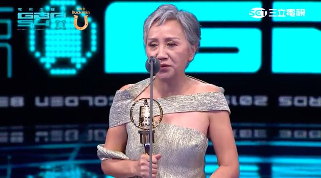 陸弈靜今年以《公視人生劇展-3天2夜》獲選迷你劇集/電視電影女配角獎。(截自三立網路直播畫面)(截自三立網路直播畫面)